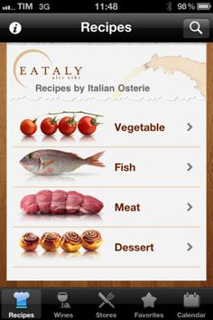 Eataly - The Recipes By Il Village  - Category: Food  Drink  - Mobile UI / UX Design