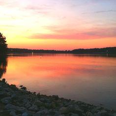 A summer sunset at Craighead Forest Park. Jonesboro, AR