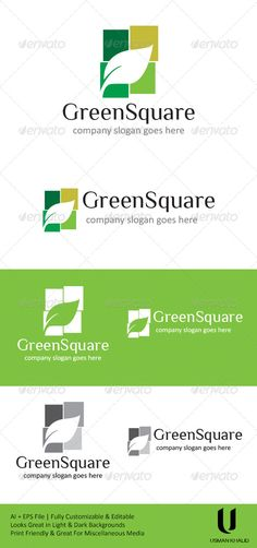 Green Square — Vector EPS #biology #ecological • Available here → https://graphicriver.net/item/green-square/4621742?ref=pxcr