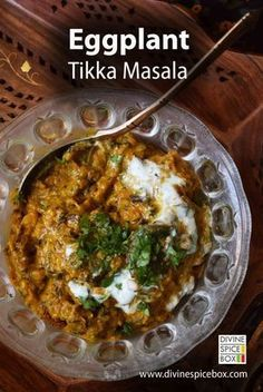 Indian curry for #meatlessmonday - Eggplant Tikka masala