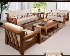 Delightful Simple Wooden Sofa Sets For Living Room   Google Search | Decors |  Pinterest | Wooden Sofa Set, Sofa Set And Room