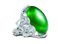 Wallace Chan  ~ 'Brilliantly Fine Ring' ~  jadeite, crystal and diamond