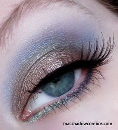 MAC's Satin Taupe on lid and Tilt in crease