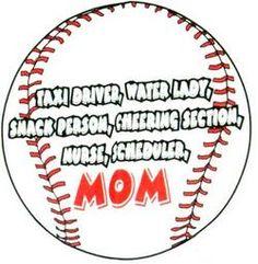 Fair Game Baseball T-Shirt: Mom Ball