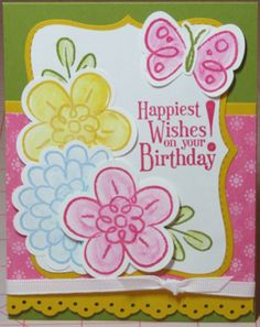 Happy Spring everyone!!! I just love this time of year and the weather here today is just fantastic. I took a break from my scrapbooking to make a card with a stamp set I hadn't been able to play w...