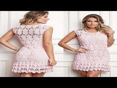 tutorial crochet  vestido de boda paso a paso /how to do (subtitulos in several lenguage) - YouTube