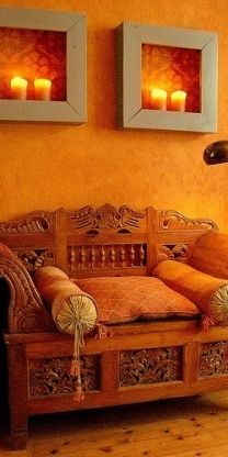 Orange comfort decor
