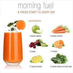 Get a fresh start every morning cooking light healthy recipes nutrition tips guides to healthy eating normal detox juice that resolve injury abdominal p Detox Diet Drinks, Juice Cleanse Recipes, Healthy Juice Recipes, Juicer Recipes, Healthy Detox, Healthy Juices, Healthy Smoothies, Healthy Drinks, Detox Juices
