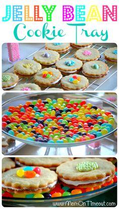 Jelly Bean Cake Plate | MomOnTimeout.com #Easter #jellbeans