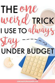 This is so great! I never thought of saving money like this! Budgeting doesn't have to hurt that much. This is a whole new way to budget and save lot of money without trying. Easy ways to save money. The One Weird Trick to ALWAYS Stay Under Budget