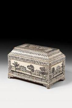 Vizagapatam ivory casket