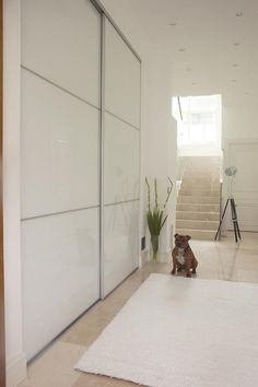 eteinen liukuovet - Google-haku Wardrobe Doors, Closet Doors, Entry Hall, Entrance, Hallway Storage, Ikea Pax, Interior Inspiration, Home Remodeling, Laundry Room