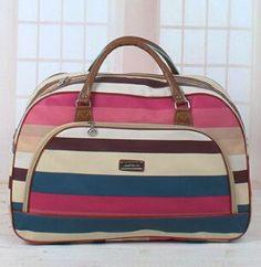2016 Women Waterproof Travel Bag Summer Style PU Leather Women Bag Travel Duffel Bag New Tower Beauty Lady Print Luggage