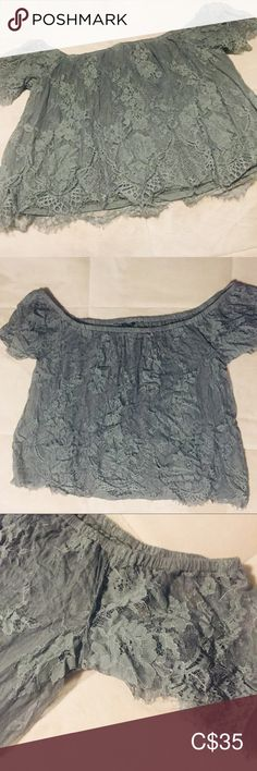 American Eagle Outfitters Ladies off Shoulder Top American Eagle Outfitters Off Shoulder Ladies Top Size Large Lace front and back American Eagle Outfitters Tops Plus Fashion, Fashion Tips, Fashion Design, Fashion Trends, Off Shoulder Tops, American Eagle Outfitters Tops, Lace Shorts, Lady, Closet