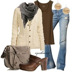 Fall Casual. Love these clogs. - Click image to find more Women's Fashion Pinterest pins