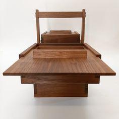 costurero, sewingbox, black walnut, nogal Woodworking, Bed, Furniture, Black, Home Decor, Decoration Home, Stream Bed, Black People, Room Decor