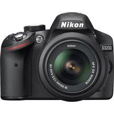 Nikon - D3200 DSLR Camera with 18-55mm VR Lens - Black - Larger Front (Best Buy)