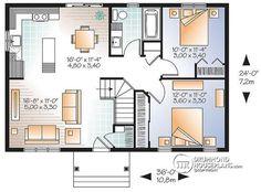 W3288V1 Scandinavian inspired house plan open floor plan 2