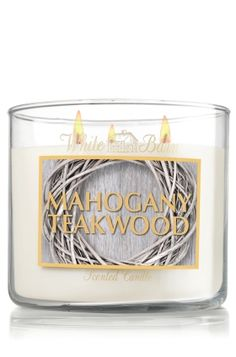 Mahogany Teakwood...Slatkin & Co. - Bath & Body Works....This candle smells just like the Abercrombie & Fitch store...Not quite as strong tho...♥