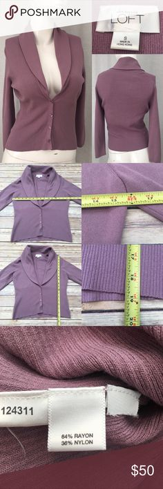 🌴Sz Small LOFT Deep V Cardigan Purple Sweater Measurements are in photos. Normal wash wear, no flaws. F1/36  I do not comment to my buyers after purchases, due to their privacy. If you would like any reassurance after your purchase that I did receive your order, please feel free to comment on the listing and I will promptly respond.   I ship everyday and I always package safely. Thank you for shopping my closet! LOFT Sweaters Cardigans