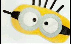 This adorable Minion sleeping mask is handmade to perfection by me using very soft and comfortable felt,washable and dryable as all details are handsewn no glue. Makes the best gift to anyone, get it