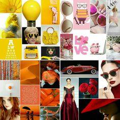 Yellow pink orange red