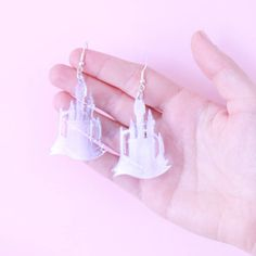 Cinderella Castle Earrings by I Love Crafty, the perfect gift for Explore more unique gifts in our curated marketplace. Fairytale Castle, Cinderella Castle, Laser Cut Jewelry, I Love Jewelry, Purple, Pink, Blue, Personalized Gifts, Unique Gifts