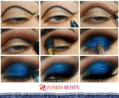 Bright eye make up is a trend during summers. Feel the blues this summer with this stunning DIY. #SS15 #DenimStudio