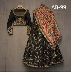 Shop latest Black Lehenga Designs for women from a wide range of Black Color Lehengas at Mirraw Online Store at best prices with worldwide fast shipping Black Lehenga, Indian Lehenga, Silk Lehenga, Silk Dupatta, Anarkali Lehenga, Bridal Lehenga, Ghagra Choli, Sharara, Indian Wedding Outfits