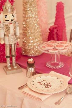 Nutcracker birthday party....love the colors and the idea....so different from a traditional Christmas time birthday theme...