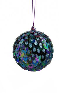 Found it at Wayfair - Dazzling Sequin Ball Ornament Homade Christmas Ornaments, Christmas Crackers, Christmas Tree Ornaments, Christmas Crafts, Christmas Decorations, Mary Christmas, Disney Christmas, Tree Decorations, Beaded Ornament Covers