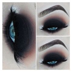 20 Perfect Club Makeup Looks Featuring Sexy Smokey Eyes! ❤ liked on Polyvore featuring beauty products, makeup, eye makeup, beauty and eyes