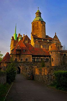 Czocha Castle in Lower Silesia, Poland