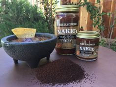 NAKED infusions Black Silk Espresso salsa, Infused with Organic espresso beans. MEDIUM HEAT | 100% Certified Organic INGREDIENTS:Organic tomatoes, organic jalapeño peppers, sea salt, organic spices, organic garlic power,organic espresso bean, citric acid.