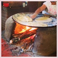 La Capilla: they serve barbacoa w the best tortillas (huge!), hand pressed & baked on clay comal heated w live fire