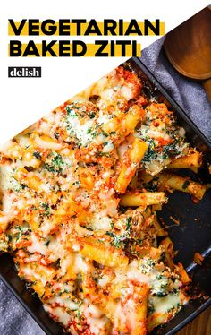 This vegetarian baked ziti is perfect for a crowd. Get the recipe from This vegetarian baked ziti is perfect for a crowd. Tasty Vegetarian, Autumn Recipes Vegetarian, Vegetarian Casserole, Vegetarian Recipes Dinner, Veggie Recipes, Cooking Recipes, Healthy Recipes, Baked Pasta Recipes Vegetarian, Baked Ziti Healthy