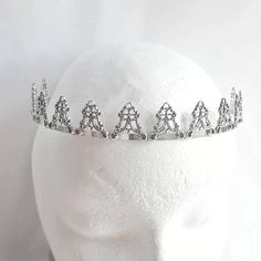 Check out this item in my Etsy shop https://www.etsy.com/listing/553744268/silver-crown-bridal-tiara-ren-faire-hair