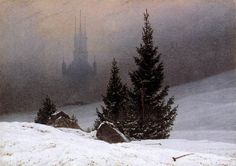Friedrich, Caspar David - Winter Landscape - Romanticism - Oil on canvas - Landscape - National Gallery - London, UK