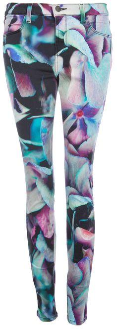 Printed Jeans: Auffällige Jeans von J-Brand in Multicolor