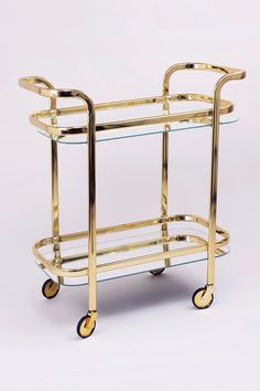 "Check out our internet site for additional relevant information on ""bar cart decor inspiration"". It is actually a great place to learn more. Diy Bar Cart, Bar Cart Styling, Bar Cart Decor, Bar Carts, Brass Bar Cart, Gold Bar Cart, Mid Century Modern Bar Cart, Spa Interior Design, Bar Set Up"