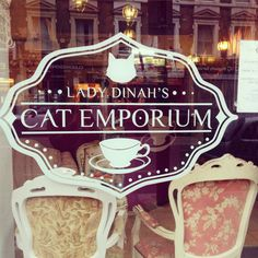Lady Dinah's Cat Emporium Cat Signs, London Food, Planets, Places To Go, Christmas Ornaments, My Love, Holiday Decor, Cats, Europe
