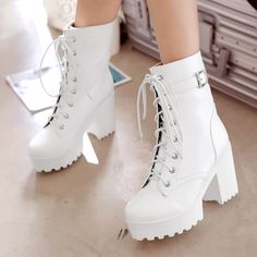 Harajuku Martin Boots - Source by shoes adidas High Heel Boots, Heeled Boots, Ankle Boots, High Heels, Shoes Heels, Women's Shoes, Fashion Boots, Sneakers Fashion, Fashion Clothes