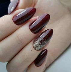 dark nail designs , winter nails dark nail designs , winter nails You are in the right place about glitter nails Here we offer you the Dark Nail Designs, Winter Nail Designs, Colorful Nail Designs, Nail Art Designs, Dark Nails With Glitter, Dark Red Nails, Gold Nails, Bling Nails, Trendy Nails