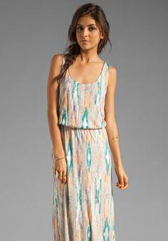 pastel ikat maxi dress