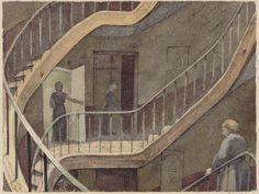 Auguste Louis Marie Ottin (1811-1890), 'Escalier du passage Radziwill' (1883)  (Source: bnf.fr)