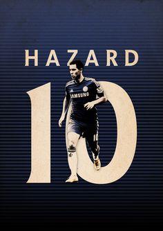 Football Posters on Behance - Eden Hazard - Chelsea FC TOP 1 league of legends player Chelsea Fans, Chelsea Football, Football Team, Mohamed Salah, Cristiano Ronaldo, Neymar, Eden Hazard Chelsea, Wwe, Football Design