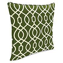 Garden Oasis Margate Green Single Welt Patio Throw Pillow