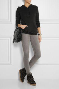 Zoe Karssen Hooded cotton-blend jersey top NET-A-PORTER.COM