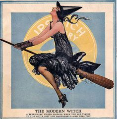 "vintage Flapper Witch ""The Modern Witch""                                                                                                                                                     More"