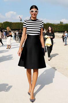 Giovanna Battaglia Paris Fashion Week SS15 #Streetstyle #PFW